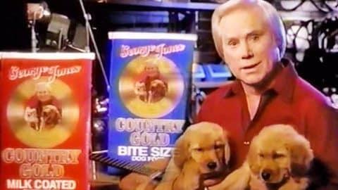 George Jones' Dog Food Promo 1990's (VIDEO) | Country Music Videos