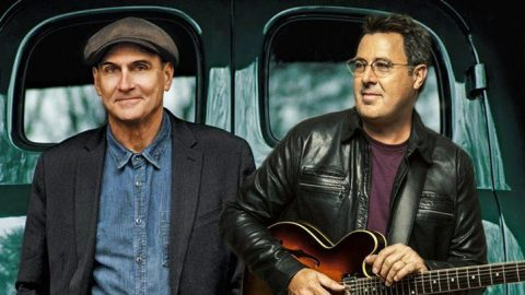 Vince Gill And James Taylor Give Chilling Performance Of 'Bartender's Blues'   Country Music Videos