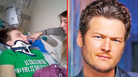 Blake Shelton Sends Prayers To Fan With Brain Injury | Country Music Videos