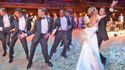 Groom and Groomsmen Surprise Bride With The Most Epic Dance Ever! | Country Music Videos