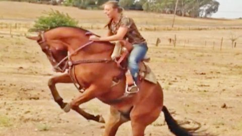 Girl Gets Brutally Thrown From Horse – Makes Badass Recovery | Country Music Videos