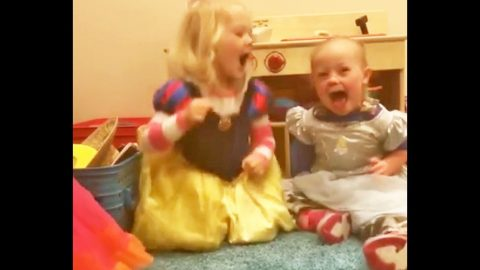 Indy Feek Will Melt Your Heart With Adorable Princess Play At School   Country Music Videos