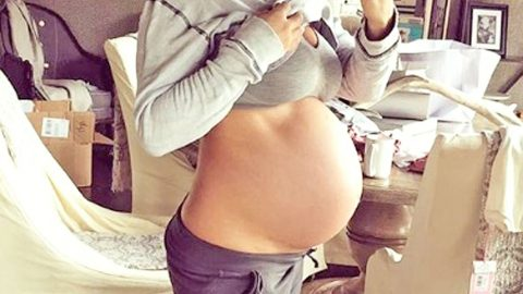 Country Star Shows Off Growing Baby Bump – Says 'It Can Be Any Day' | Country Music Videos
