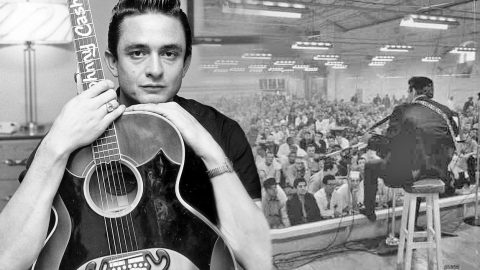 """Johnny Cash Performs """"Folsom Prison Blues"""" Live At Tennessee State Prison 