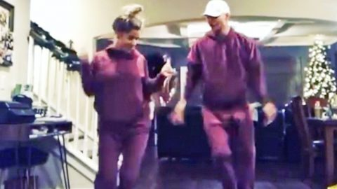 Kane Brown & His Fiancée Rock Matching Outfits & Show Off Their Best Dance Moves | Country Music Videos