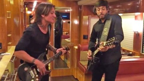 Keith Urban Plucks Guitar & Sings John Michael Montgomery's Rapid-Fire 'Sold' | Country Music Videos