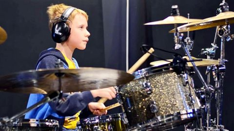 10-Year-Old Boy Delivers Sizzlin' Drum Cover Of Kid Rock's 'All Summer Long' | Country Music Videos