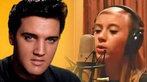 Elvis Presley's 12-Year-Old Relative Lauren Marie Records 'A Little Bit Stronger' | Country Music Videos