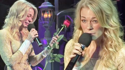 LeAnn Rimes Breaks Down During Passionate Performance Of 'The Rose' At Anti-Bullying Benefit | Country Music Videos