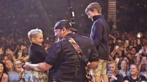 Country Singer Gets Emotional After Young Sons Surprise Him At Live Show | Country Music Videos