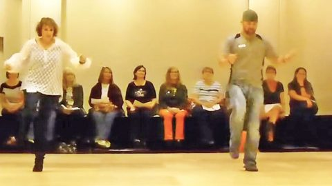 Country Folks Sport Some Fancy Footwork In Fiery Line Dance To Trace Adkins' 'Lit' | Country Music Videos