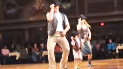 Little Cowboy Steals The Stage With Feisty 'Redneck Woman' Line Dance | Country Music Videos