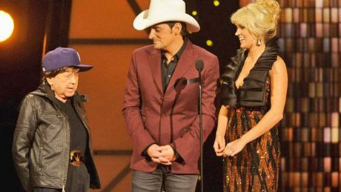 """Carrie Underwood and Brad Paisley Introduce Little """"Justin Bieber""""   Country Music Videos"""