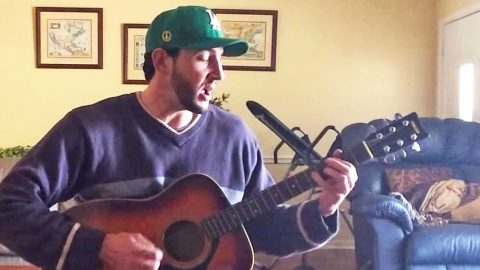 Man's Fiery Living Room Cover Of 'Gimme Back My Bullets' Will Speak To Your Soul | Country Music Videos