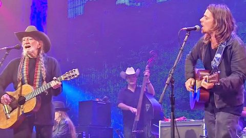 Willie Nelson & His Son Lukas Sound Identical In Unreal Duet Of 'Just Breathe' | Country Music Videos