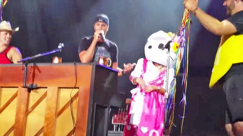 Y'all Will Never Guess Who Surprised Luke Bryan On Stage In A 'Hello Kitty' Costume (Funny!)   Country Music Videos