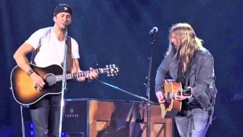Fans SHOCKED When Luke Bryan Brings Out Superstar Guest For Haunting Duet | Country Music Videos