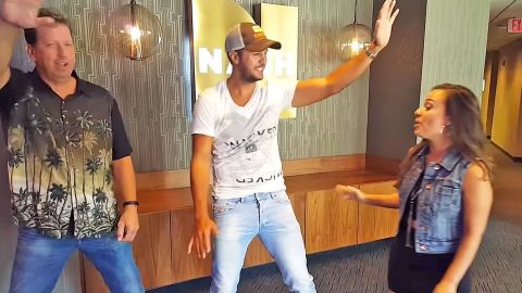 Luke Bryan Hilariously Tries A New Dance Fad | Country Music Videos