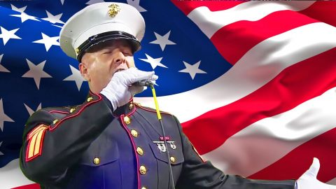 This Marine Sgt. Will Blow Y'all Away with His 'God Bless America' Performance (VIDEO) | Country Music Videos