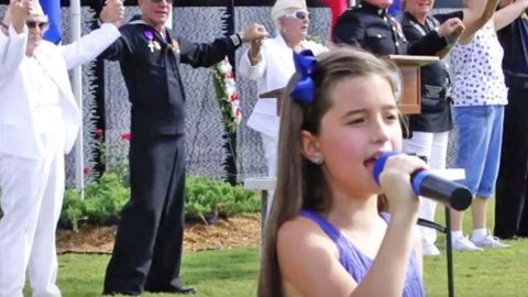 8-Year-Old Performs Chilling Rendition Of 'God Bless The USA' | Country Music Videos