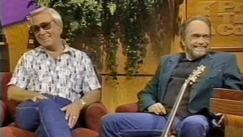 George Jones Surprises Merle Haggard (Interview) (WATCH) | Country Music Videos