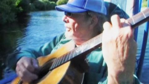 Merle Haggard Fishing With His Son Ben (Rare Acoustic Performance)   Country Music Videos