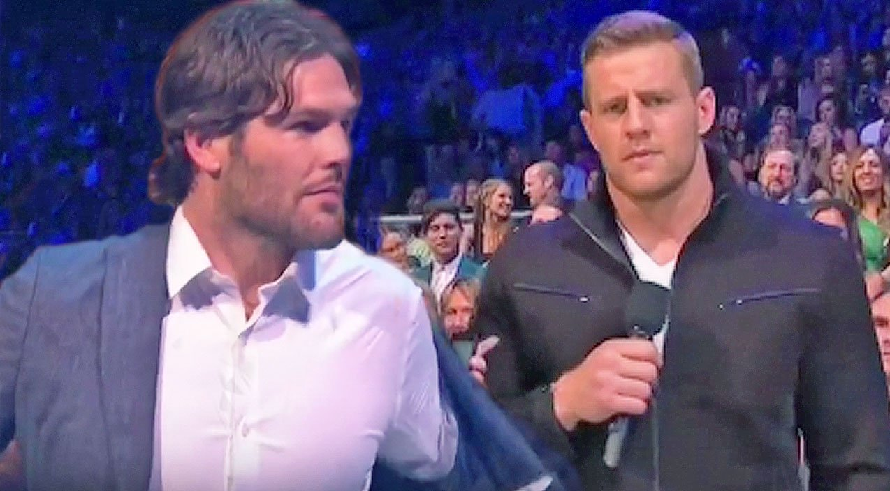 Mike Fisher And Cmt Awards Co Host J J Watt Almost Get In