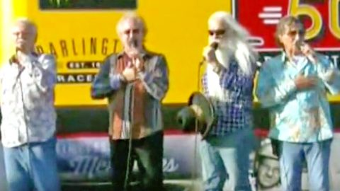 The Oak Ridge Boys Bring Brilliant Harmonies To Performance Of The National Anthem | Country Music Videos