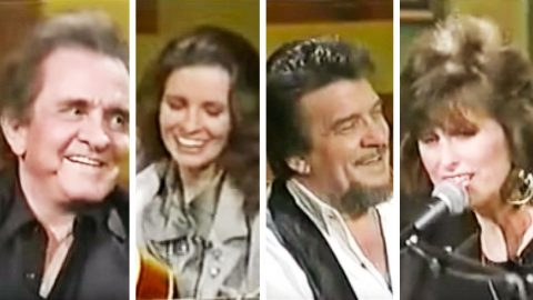 Johnny Cash & Waylon Jennings Can't Stop Smiling While Wives Serenade Them | Country Music Videos