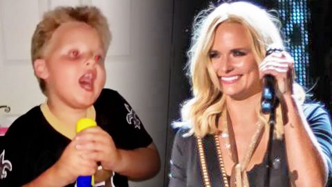 Passionate Miranda Lambert Fan Sings 'Mama's Broken Heart' At The Top Of His Lungs | Country Music Videos