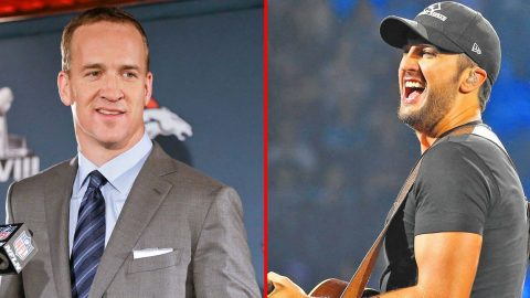 Luke Bryan Brings NFL Star Peyton Manning On Stage For Surprise Duet | Country Music Videos