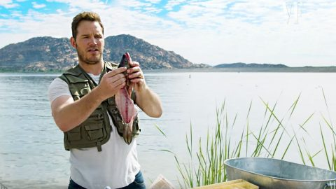 Chris Pratt Gives Hysterical Lesson On How To Gut A Fish | Country Music Videos