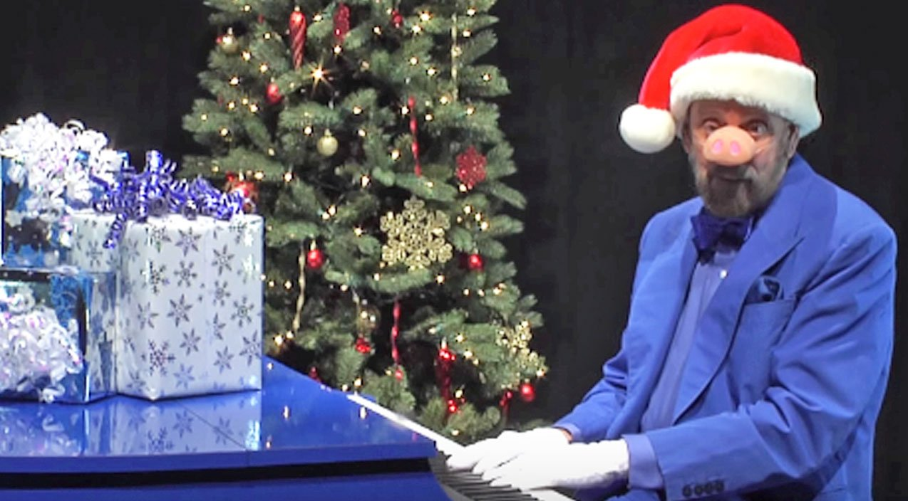 Ray stevens does his best seymour swine impression for hilarious version of blue christmas country rebel