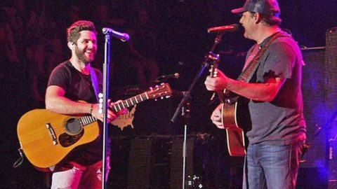Thomas Rhett Invites Father Rhett Akins Onstage For Killer Duet Of 'Parking Lot Party' | Country Music Videos