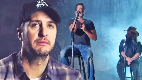 Luke Bryan Fights Back Tears Reflecting On Heartbreaking 'Drink A Beer' Performance | Country Music Videos