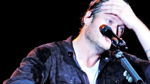 Blake Shelton Gets Emotional While Performing 'Over You' For The First Time | Country Music Videos