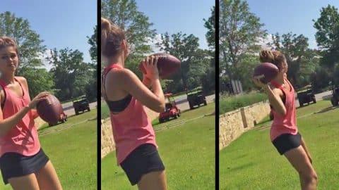 Sadie Robertson Shows Up Her Quarterback Boyfriend | Country Music Videos