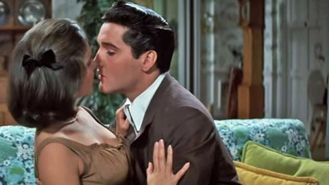 Elvis Caught In Passionate Embrace After Serenading Lovely Costar | Country Music Videos