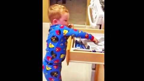 Little Boy Channels Luke Bryan To Make Chores More Fun | Country Music Videos