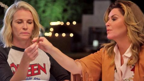 Shania Twain Passes A Joint At Chelsea Handler's Dinner Party   Country Music Videos