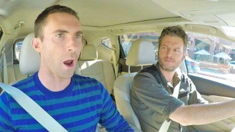 Blake Shelton And Adam Levine Engage In Hilarious Sing-Off   Country Music Videos