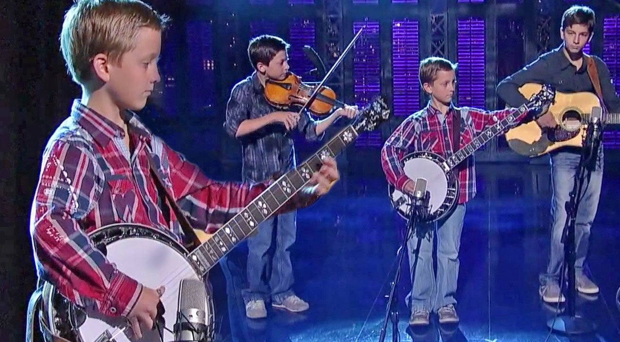 3 young brothers take over the stage with their impressive bluegrass performance country rebel. Black Bedroom Furniture Sets. Home Design Ideas