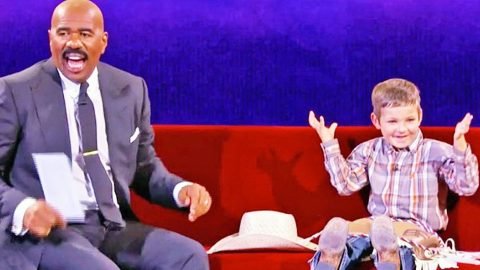 Steve Harvey Has Hysterical Conversation With The World's Cutest Cowboy   Country Music Videos