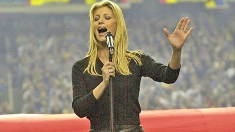 Faith Hill Kicked Off The Super Bowl With Killer National Anthem Performance   Country Music Videos