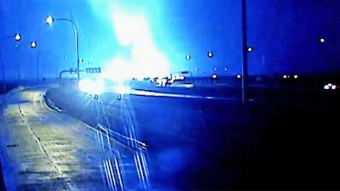 Traffic Cameras Capture Terrifying Texas Tornado Passing Over Highway   Country Music Videos