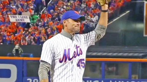 Tim McGraw Honors Late Father With Emotional First Pitch At World Series Game | Country Music Videos