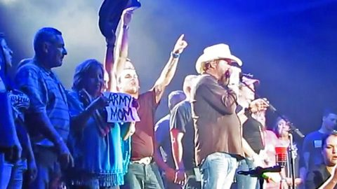 Toby Keith Honors Military Members On Stage With Song That Embodies Freedom | Country Music Videos
