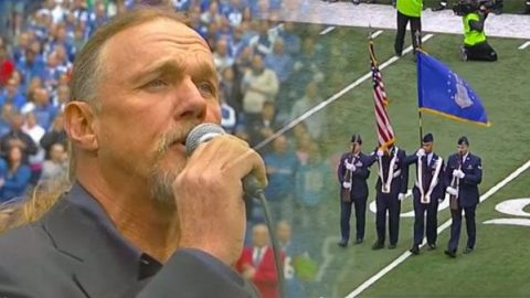 Trace Adkins Performs National Anthem (At Ravens vs Colts Game) (VIDEO) | Country Music Videos