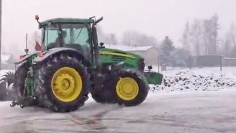 This Guy Is DRIFTING In A John Deere Tractor?! I Gotta See This! | Country Music Videos