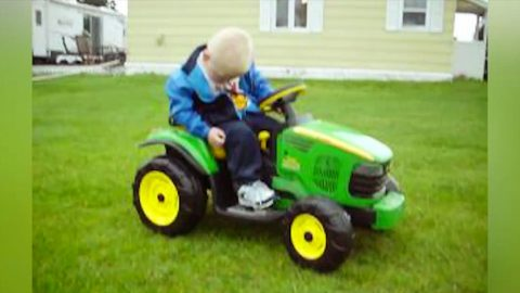 Oh 'Deere'! Adorable Little Boy Falls Asleep On The Job In Hysterical Tractor Video | Country Music Videos